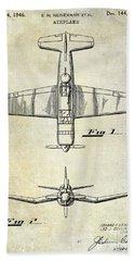 1946 Airplane Patent Hand Towel by Jon Neidert