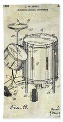 1951 Drum Kit Patent  Hand Towel by Jon Neidert