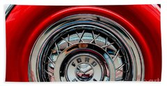 Bath Towel featuring the photograph 1958 Ford Crown Victoria Wheel by M G Whittingham