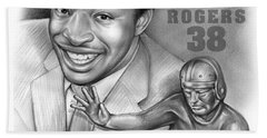 1980 Heisman Winner Hand Towel by Greg Joens