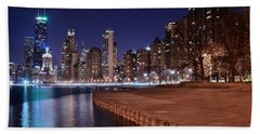 Chicago From The North Hand Towel by Frozen in Time Fine Art Photography