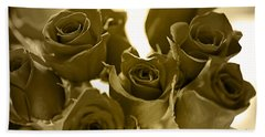 Floral Gold Collection Hand Towel by Marvin Blaine