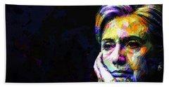 Hillary Clinton Hand Towel by Svelby Art