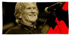 Kris Kristofferson Collection Hand Towel by Marvin Blaine