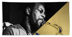 Ornette Coleman Collection Hand Towel by Marvin Blaine