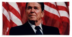 President Ronald Reagan Hand Towel by War Is Hell Store