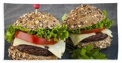 Two Gourmet Hamburgers Hand Towel by Elena Elisseeva