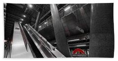 Underground Escalator Hand Towel by David Pyatt