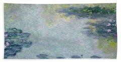 Waterlilies Hand Towel by Claude Monet