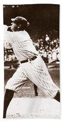 Babe Ruth Hand Towel by American School