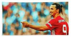 Manchester United's Zlatan Ibrahimovic Celebrates Hand Towel by Don Kuing