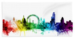 London England Skyline Hand Towel by Michael Tompsett