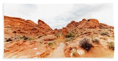 Valley Of Fire State Park Panorama Hand Towel by Daniel Shumny