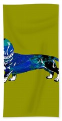 Dachshund Collection Hand Towel by Marvin Blaine
