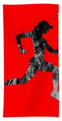 iRun Fitness Collection Hand Towel by Marvin Blaine