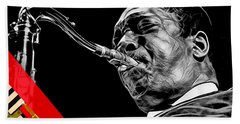 John Coltrane Collection Hand Towel by Marvin Blaine