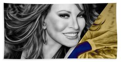 Raquel Welch Collection Hand Towel by Marvin Blaine