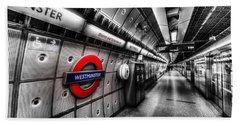 Underground London Hand Towel by David Pyatt