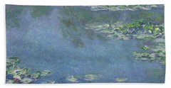 Water Lilies Hand Towel by Claude Monet