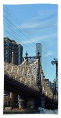 59th Street Bridge No. 4 Hand Towel by Sandy Taylor