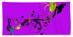 Music Flows Collection Hand Towel by Marvin Blaine
