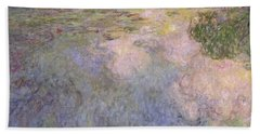 The Waterlily Pond Hand Towel by Claude Monet