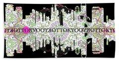 Tokyo Skyline Hand Towel by John Groves