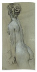 A Naiad In The Lament For Icarus Hand Towel by Herbert James Draper