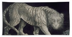 A Prowling Tiger Hand Towel by Elizabeth Pringle
