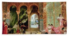 A Royal Palace In Morocco Hand Towel by Benjamin Jean Joseph Constant