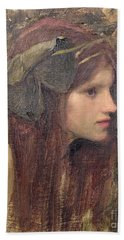 A Study For A Naiad Hand Towel by John William Waterhouse