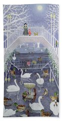 A Walk In The Park Hand Towel by Pat Scott