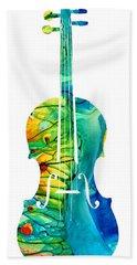 Abstract Violin Art By Sharon Cummings Hand Towel by Sharon Cummings