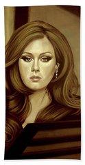 Adele Gold Hand Towel by Paul Meijering