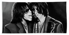 Aerosmith Toxic Twins Mixed Media Hand Towel by Paul Meijering