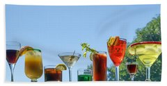 Alcoholic Beverages - Outdoor Bar Hand Towel by Nikolyn McDonald