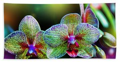 Alien Orchids Hand Towel by Bill Tiepelman