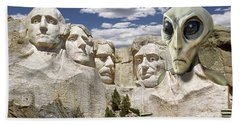 Alien Vacation - Mount Rushmore 2 Hand Towel by Mike McGlothlen