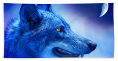 Alpha Wolf Hand Towel by Mal Bray