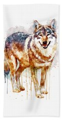 Alpha Wolf Hand Towel by Marian Voicu