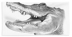 American Alligator Hand Towel by Greg Joens