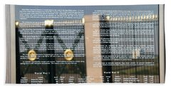 Hand Towel featuring the photograph American Battle Monuments Commission by Travel Pics