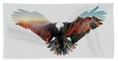 American Eagle Hand Towel by John Beckley