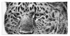 Amur Leopard Hand Towel by John Edwards