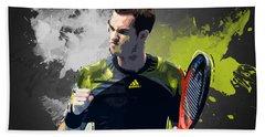 Andy Murray Hand Towel by Semih Yurdabak
