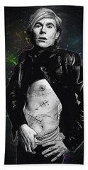 Andy Warhol Hand Towel by Semih Yurdabak