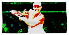 Angelique Kerber 3c Hand Towel by Brian Reaves