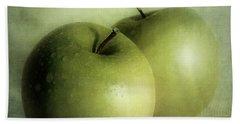 Apple Painting Hand Towel by Priska Wettstein