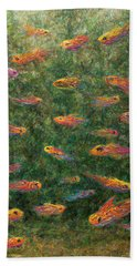 Aquarium Hand Towel by James W Johnson