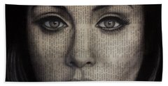 Art In The News 72-adele 25 Hand Towel by Michael Cross